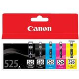 Canon Pixma MG5250 Cartridge Large Black Ink Genuine (cyaan, magenta, geel, zwart) (3 stuks + 1 stuks + 1 stuks)