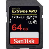 Sandisk Sdsdxxy-064G-Gn4In Extreme Pro Sdxc Uhs 1 Geheugen Kaart, 64Gb