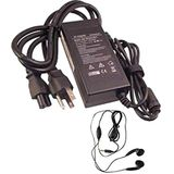 amsahr HP18.5V2.7A50W-03 Vervanging AC Power Adapter voor Compaq/Hp 18.5V, 2.7A, 50W, PCG: E500S, M700, V300, N110 - Omhulling stereo oordopjes zwart