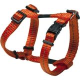 Reflecterende verstelbare H harness voor kleine dogs; matching collar en leash available, Utility, Small, oranje