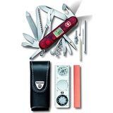Victorinox Zakmes Expedition Kit (45 functies, lemmet, digitaal display, LED) rood transparant