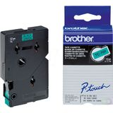 BROTHER P-Touch TC-701 black on green 12mm