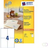 Etiket Avery LR3483 105x148mm A6 recycled wit 400stuks Office-Deals