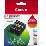 CANON CLI-526 Value pack blister 4x6 Phot Paper PP-201 50sheets + Cyan Magenta Yellow & Photo Black ink tanks kopen