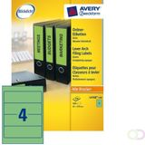 Rugetiket Avery L4768-100 192x61mm zelfklevend groen Office-Deals