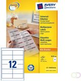Etiket Avery Zweckform 3659 97x42.3Mm wit 2400stuks kopen