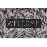MD Entree droogloopmat Ambiance Leaves Welcome beige 75 x 50 cm