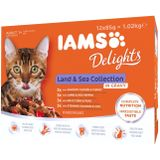 IAMS Delights Land & Sea Collection Gravy 12-pack 85 g