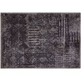 MD Entree Droogloopmat Soft and Deco Vintage zwart 50 x 70 cm