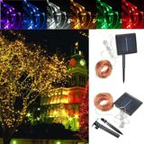 32M Solar Powered LED String Koper Wire Fairy Light Kerst Lamp Waterproof