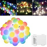 ARILUX® Batterij Powered 6M 40LEDs Globe Ball Fairy String Lights voor Christmas Patio