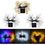 Zonne-energie 4.5 m 20LED Waterdicht Fairy Holiday Light String Garden Wedding Party Christmas Decor