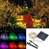 32M Solar Powered LED String Sliver Wire Fairy Light Kerst Lamp Waterproof