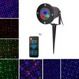 Mini Christmas Outdoor RGB Dynamic Laser Projector Stage Party Light Lawn Garden Decor