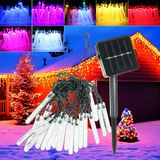 4,8M 20 LED Bubble Icicle Fairy String Licht Solar Power Christmas Party Lamp