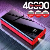 Bakeey 40000mAh 3 in 1 Power Bank Fast Charging LED Digital Display For iPhone XS 11Pro Huawei P30 P40 Pro MI10 Oneplus 8Pro