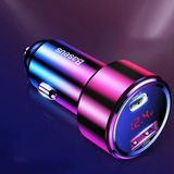 Baseus 45W Quick Charge 4.0 3.0 Dual USB Car Charger Type-C For Mi Huawei Supercharge SCP QC4.0 QC3.0 Fast PD USB C Car Phone Charger