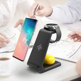 Bakeey QI 10W Fast Charge 3 in 1 Wireless Charger Charger Dock voor Samsung Wireless Charge Stand voor iPhone voor Apple Watch voor Airpods Pro