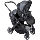 Chicco Duo Kinderwagen - Tweelingwagen Fully Stone Black