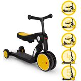 Billy 5 in1 Driewieler - Loopfiets - Fiets - Step - Balance Bike - Quince - Geel