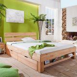 Bed Blocky Julia met Nachtkastjes en Laden Blank Beuken 180x200cm