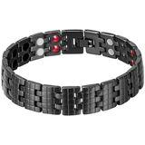 Mendes Titanium Heren Armband Magnetische Power Zwart