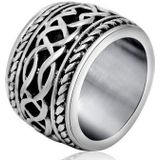 Brede edelstaal heren ring Celtic Knot