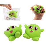 Green Monster Stretch Stress Relief Fidget Reliever Soft Squishy Toy