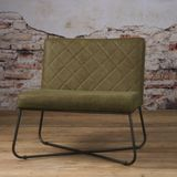 Tower Living fauteuil Rodeo Leder Danza Olive