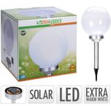 Pro Garden Solarbal - Padverlichting - Zonne energie - 25cm - WARM WIT - LED