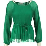 Glamorous 2 laagse polyester groene blouse
