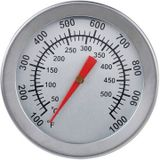 """F/C 2 """"Rvs Oven Dual Gage 500 Graden Thermometer BBQ Smoker Pit"""