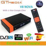 1 jaar Europa Cline Echt Freesat GTMedia V8 Nova Full HD DVB-S2 Satellietontvanger Hetzelfde V9 Super Upgrade Van V8 super Deco - uk plug