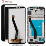 Voor Huawei Y6 2018 Lcd Touch Screen Digitizer Vergadering Voor Huawei Y6 Prime 2018 Screen Y6 2018 ATU-L11/ l21/L22/LX3 LCD - Black with frame
