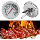 Rvs Bbq Professionele Thermometer 50-500C Barbecue Roker Grill Temperatuurmeter Barbecue Haard Accessoires