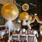 6 stks Grote Ballon Latex Giant Ballon Grote Ballonnen voor Goud Fotoshoot/Verjaardag/Wedding Party/Festival /Event/Carnaval Decor - Rode roos