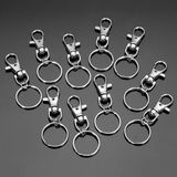 10st Fashion roestvrij staal Dual Key Holder Ring sleutelhanger zilver