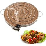 Rvs BBQ Grill Rook Generator Barbecue Accessoires Voor Hout Chips - Ronde