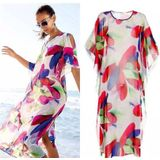 Vrouwen Bikini Cover Up Beach Jurk Bedekt Strand Rok Strand pareo Beach wear Blouse Tops Kant Badpak Kiel # j03 # F - XL