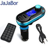 JaJaBor Bluetooth Fm-zender Handsfree Car Kit Dual USB LCD Display Car Charger USB MP3 Microfoon voor Smarpthones