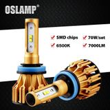 Oslamp T6 Serie H4 Led Koplamp voor Auto 6500 k SMD Chips 9005/HB3 9006/HB4 Led H7 auto Lampen 70 w All-in-een H11 Led Lampen 2x - 9006/hb4