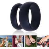 3 stks Rubber Siliconen Vinger Ring Grijs/Zwart/Blauw Maat 5-13 Flexibele Hypoallergeen Crossfit Wedding Engagement 7B0002 - 6