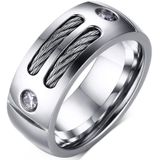 Quality Men Titanium RingPunk Ring 316L Stainless Steel Ringfor Gentleman Boyfriend Father - 11