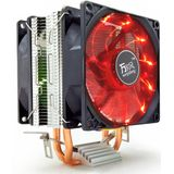 12V 3Pin Silent Double Tower CPU Koelventilator Koeler Koellichaam voor Intel LGA1150 1151 1155 AMD 2/3 + - Rood