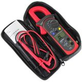 ST201 Digitale Klem Meter Multimeter Met AC/DC Spanning Tester Stroom Weerstand Transistor Test Mult Power Meter - only Alligator