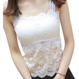 Vrouwen Lady Sexy Kant Tank Top Caimsole Tops Bh Crop Top Casual Bralette Ademend - Zwart