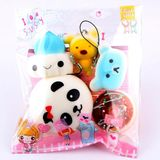 Kawaii Squishies 5 STKS Squishy Brood Gags Bananasplit Speelgoed Squishies Trage Stijgende Mini Squish Antistress 30S71225 drop