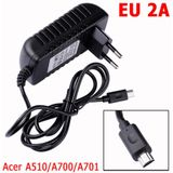 YCDC 12 V 2A Reislader AC EU of US Plug Adapter Tablet Laptop Kabel Lader Voor Acer Iconia Tab A510 A700 A701 - VS