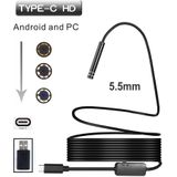 5.5mm 6LED USB TYPE-C Android Endoscoop Inspectie Camera Snake Flexibele Borescope Camera Voor Android PC 1 M/3 M/5 M/7 M/10 M Kabel - 7M Cable