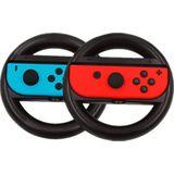 2 stks Game controller Stuurwiel Voor Nintendo Schakelaar Joy-con Links Rechts Stuurwiel - Rood